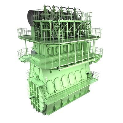 ME-GI dual-fuel engine: Image credit MAN