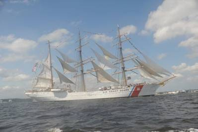 USCG Tall Ship Eagle: Photo credit USCG