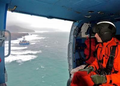 Kulluk Fly-over: Photo credit USCG