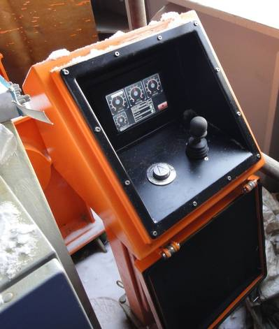 Icebreaker Winch Controller: Photo credit Beijer Electronics