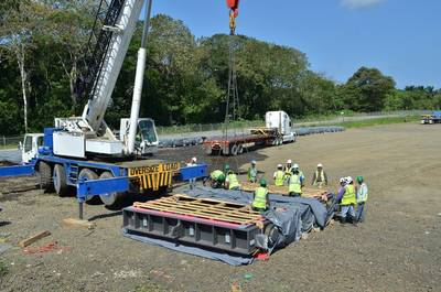 Panama Canal Lock Equipment Arrives: Photo credit PCA