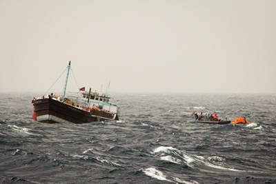 Rescue operation off Somalia: Photo credit EU NAVFOR