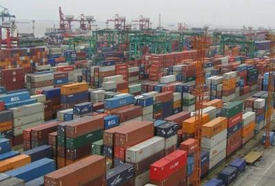 Container Terminal: Photo credit LR