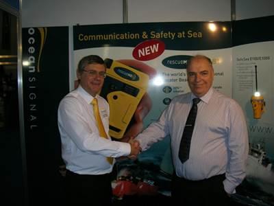 Partnership Handshake: Photo credit Ocean Signal