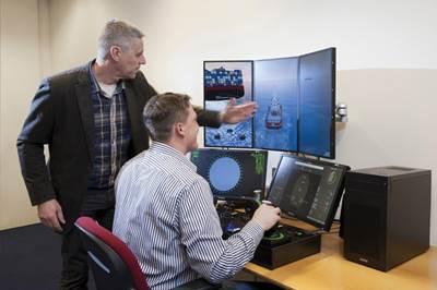 Nautis Desktop Simulator with instructor