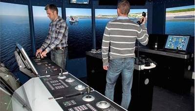 Offshore Maritme Simulator: Photo credit Kongsberg Marilime