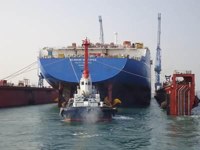 LNG carrier 'Velikiy Novgorod': Photo credit SCF