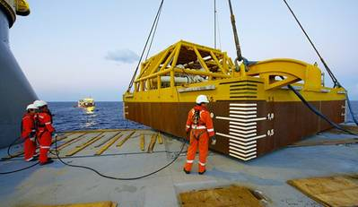 Preparing to Deploy from MV Lone: Photo credit SAL