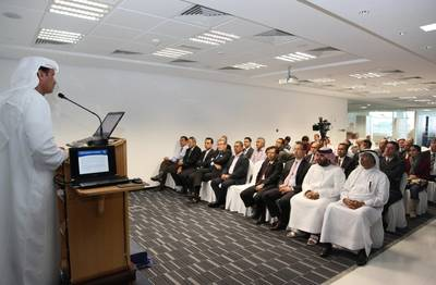 Khamis Juma Buamim addressing the meeting