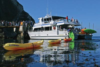 Like her two sister ships, Island Packers new boat will haul passengers, campers, and kayaks to the Channel Islands National Park, but the new vessel will be even more versatile with configurable seating, cargo carrying capacity, and an extendable  knuckle crane.
