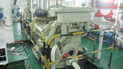 Cummins KTA38M2 Engine: Photo credit Sarawak Slipways