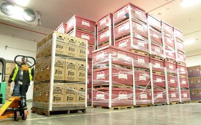 Inside New Cold Storage Facility: Photo credit Crowley: