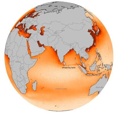 Global NOx Map: Image credit NASA