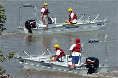 Boats at Work: Photo credit Rescue ONE