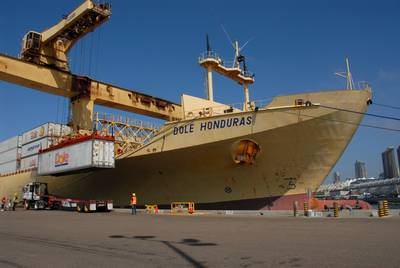 Dole Ship at Terminal: Photo credit Port of San Diego