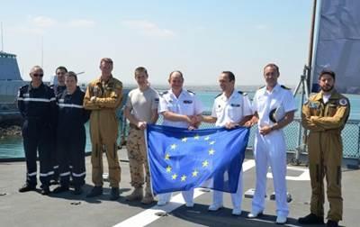 Courbet/Surcouf Handover Ceremony: Photo credit EU NAVFOR