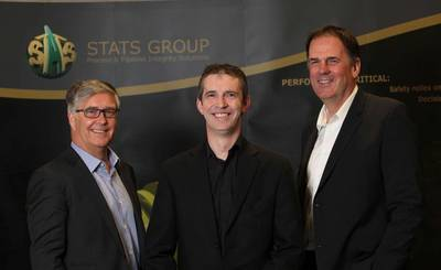STATS Group CEO, Pete Duguid, Carl-Petter Halvorsen and Dave Shand