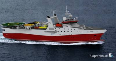 Ice-class Seismic Vessel: Photo credit Kleven