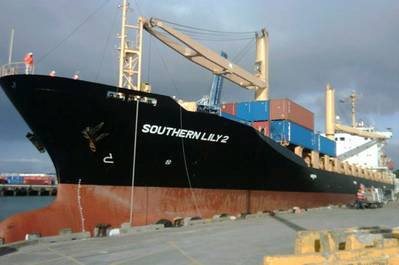 M/V Southern Lily 2: Photo courtesy of Reef Shipping