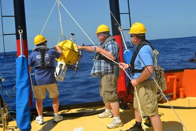 Deploying APEX Deep: Photo credit Teledyne Webb Research