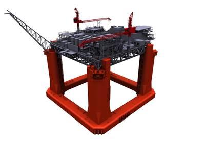 LLOG Exploration Delta House Model: Image credit 2H Offshore