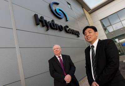 Doug Whyte, Hydro Group managing director with Steve Ang, who will head-up the Hydro Group Singapore office. Photo: Hydro Group