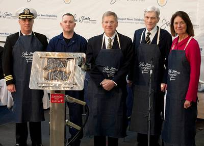 SSN 785 Keel-laying ceremony: Photo credit HII