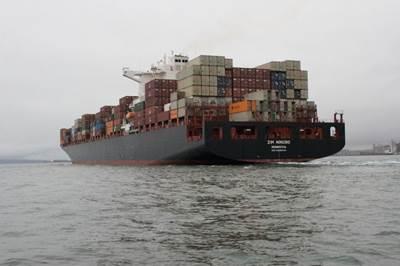 Container Ship 'Zim Ningbo': Photo credit Zim Line