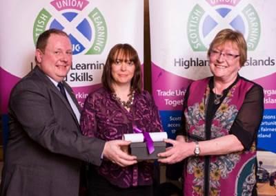Award Presentation: Photo credit CalMac