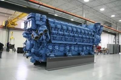 MTU Series 8000 Engine: Photo credit Tognum MTU