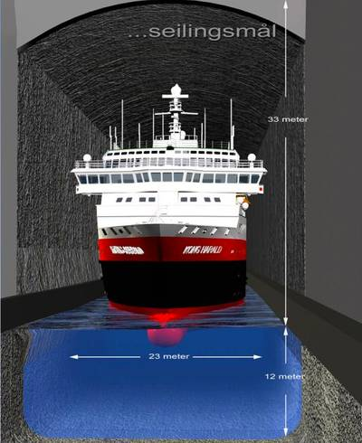 Ship in Tunnel: Image courtesy of skipstunnel.no