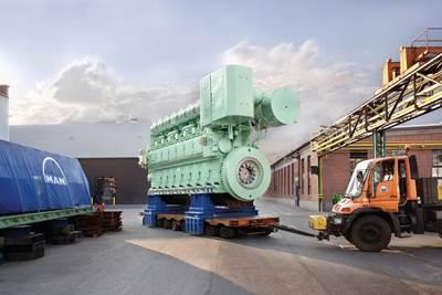 MAN 48/60 Diesel Engine: Image credit MAN Diesel & Turbo