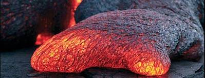 Oceanic Lava Flow: Photo courtesy of the Researchers