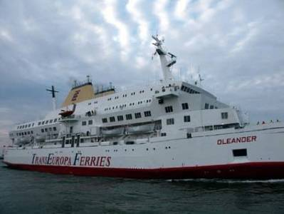 TransEuropa Ferry: Photo courtesy of Port of Oostende