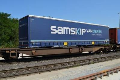 Intermodal Transport: Photo courtesy of Samskip Van Dieren Multimodal