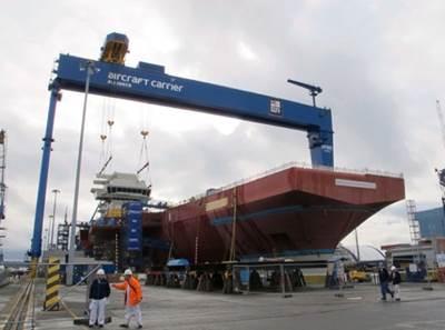 Queen Elizabeth-class Under Construction: Photo credit Builders
