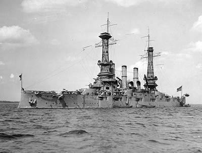 USS New Hampshire. Photo: U.S. Naval Historical Center Photograph.