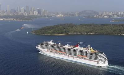 Carnival Spirit arrives into Sydney Harbor. (Photo: Carnival Cruise Lines, Photographer credit: James Morgan)