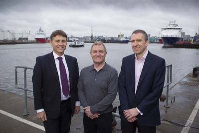 (L-R) Colin Forbes, Kevin Gorman and John Ewen (Photo: Harkand)