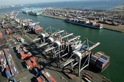 Port Container Terminals: Photo credit Port of LA
