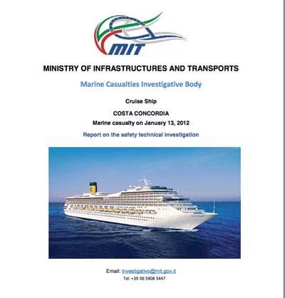 Costa Concordia Report: Image credit The Marine Casualties Investigative Body, Italy