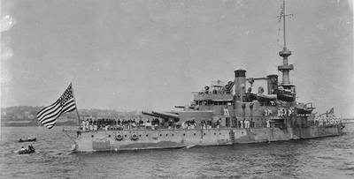 USS Oregon (U.S. Naval History and Heritage Command Photograph)