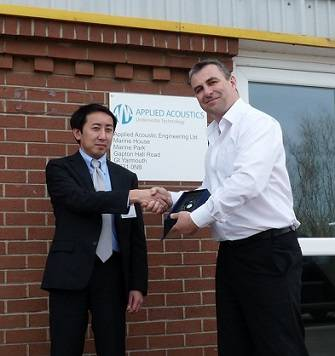 Mr. Takada, left, and Mr. Willoughby, right