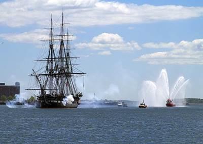 Salute, USS Constitution: Photo credit USN