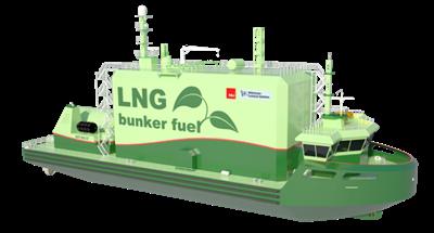 LNG Bunker Barge Concept: Image credit NLI