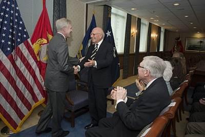 Pentagon Ceremony: Photo credit USN