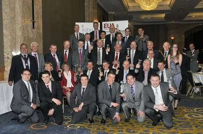 Award Winners at the EUA IGEM Gas Industry Awards Lunch 2013. Image courtesy of EUA.