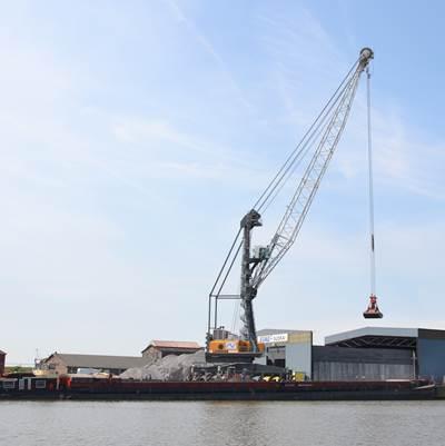 Liebherr Mobile Harbour Cranes situated in Emden