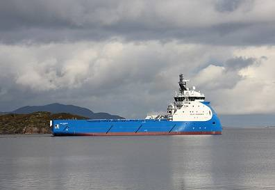 Blue Guardian on her way to sea trials earlier this week (Photo: Ulstein)