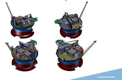FPSO General Layout: Image courtesy of Dana Petroleum